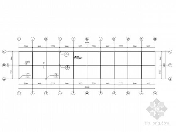 单层砖混结构施工图(夹心屋面板)