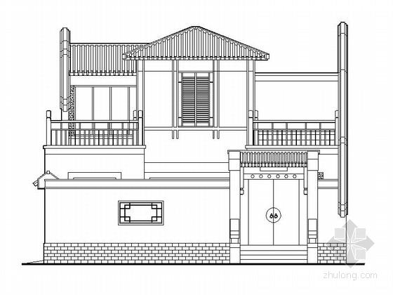 [北京]两层四合院建筑设计施工图(含效果图)
