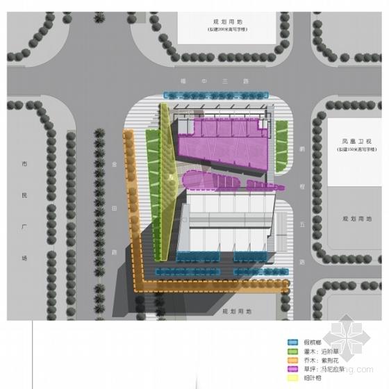 [广东]现代风格超高层商务办公建筑设计方案文本(含CAD)-现代风格超高层商务办公建筑分析图