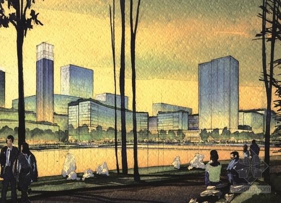 [上海]大型生态体育中心规划设计方案文本(知名事务所)-大型生态体育中心规划设计效果图