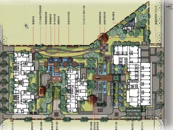 [西安]現代中式簡約居住區景觀規劃設計方案