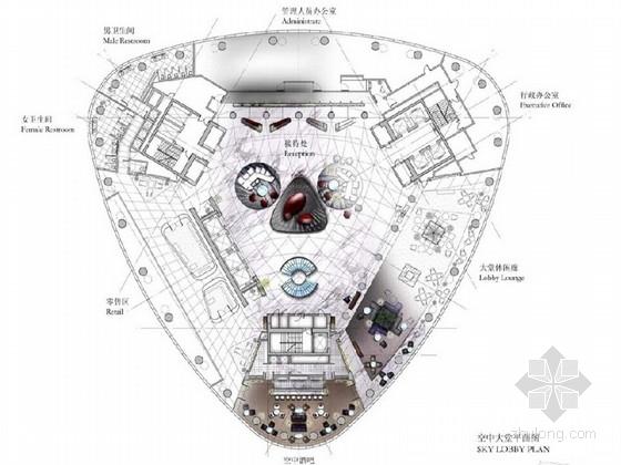 [广东]豪华大气5星级酒店概念设计方案含效果图