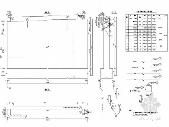 2×10m预应力混凝土简支空心板桥轻型桥台钢筋图
