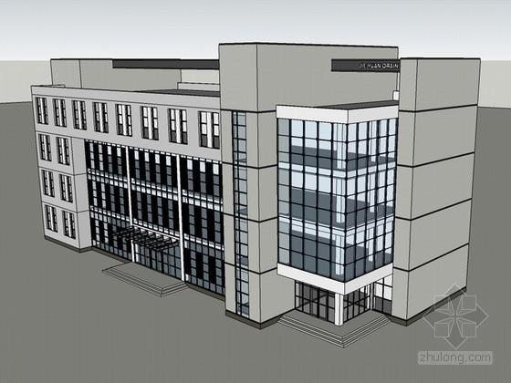 简单办公建筑SketchUp模型下载