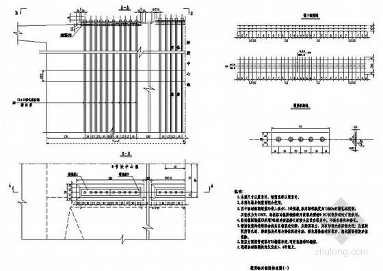 杭州市轻纺路工程某段运河桥全套施工设计图纸