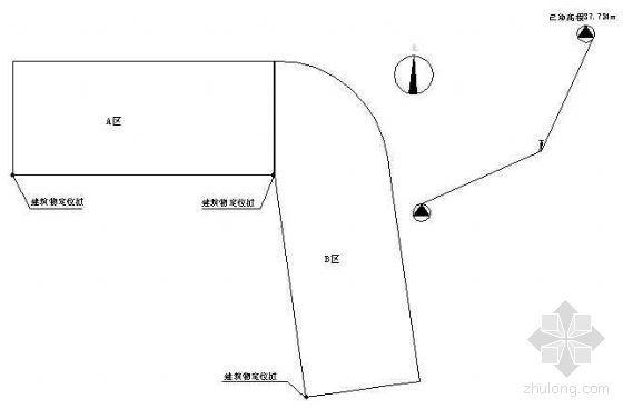 北京某工程测量施工示意图汇编