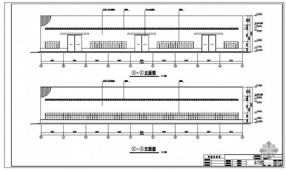 新津县某设备厂生产车间建筑结构图