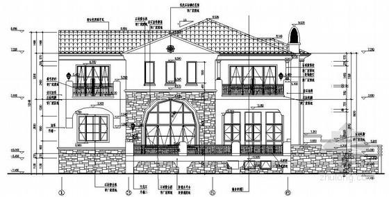 [内蒙古]砖混结构商务会馆结构施工图(含建筑施工图、计算书计算模型)