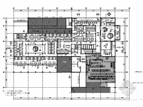 [杭州]全国最热销连锁餐厅室内设计CAD施工图(含效果图)
