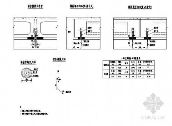 4×12米预应力混凝土空心板抗震锚栓构造节点详图设计