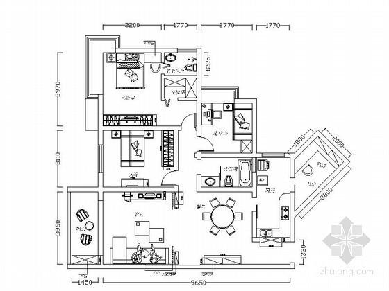 [贵阳]150平米现代四室两厅装修图(含效果)
