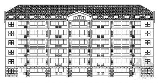 某高校六层宿舍楼建筑方案图