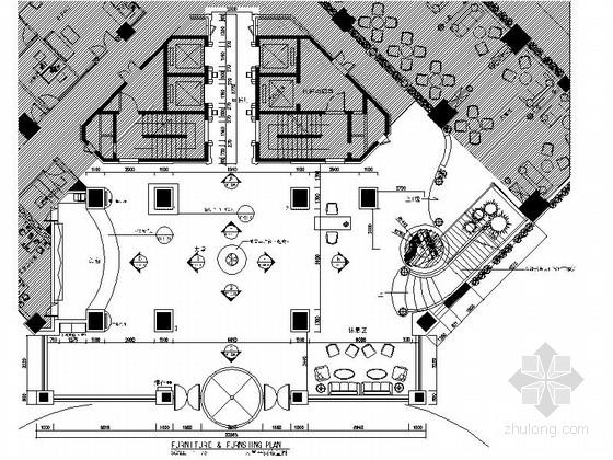 [湖南]长沙某国际大酒店大堂施工图
