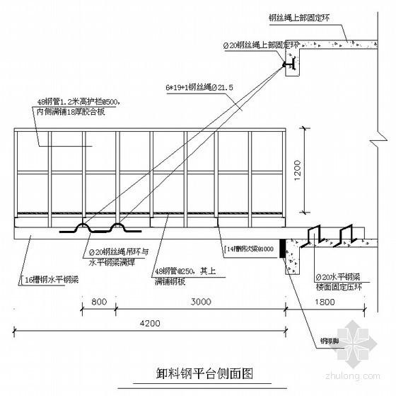 [湖北]酒店工程卸料平台施工方案(计算书)