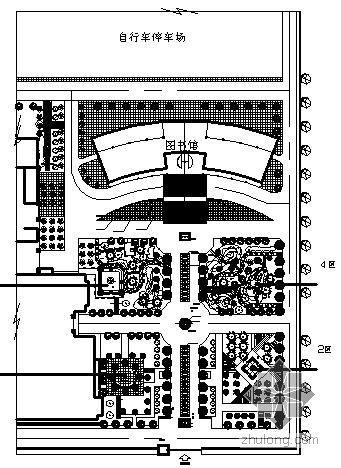 霸州中学图书馆前绿地景观施工图全套