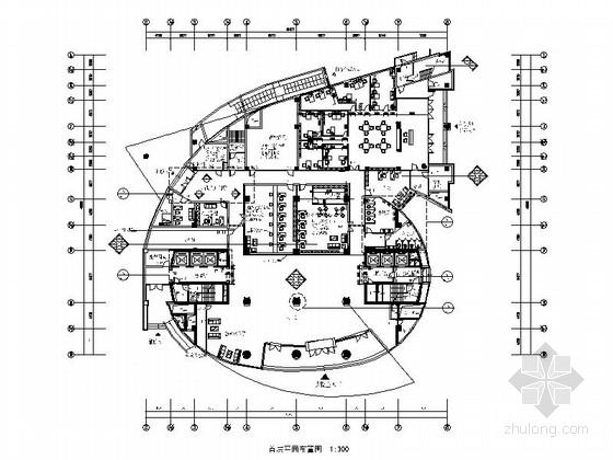 [江苏]知名设计院设计时尚前卫商业办公空间室内设计装饰竣工图