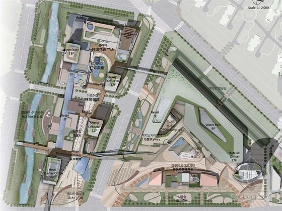 """[唐山]""""韩国城""""现代都市商业区景观设计规划方案"""