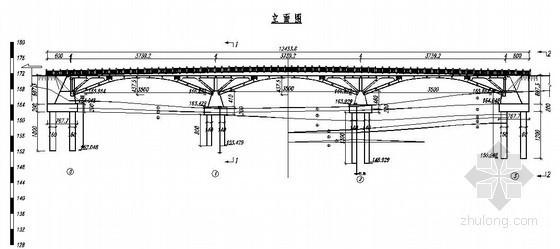 绩溪县某3孔35米跨桁架拱桥设计图
