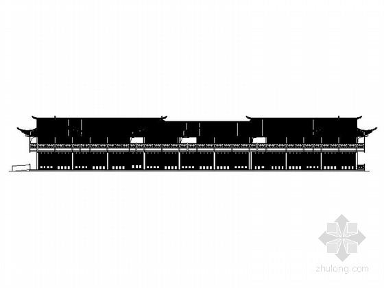[湖北]2层新中式风格商业综合体建筑施工图(颇具特色)