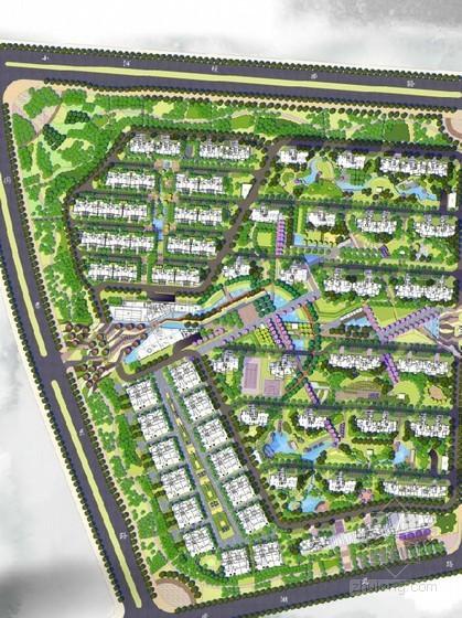 [张家港]现代中式居住区景观设计方案