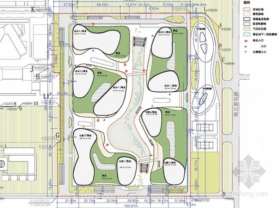 商业步行街规划总平面图