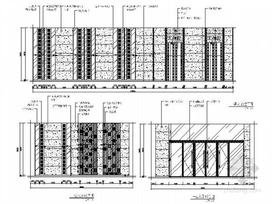 [安徽]气势恢宏多功能豪华娱乐俱乐部装修施工图(含效果) 大厅立面图