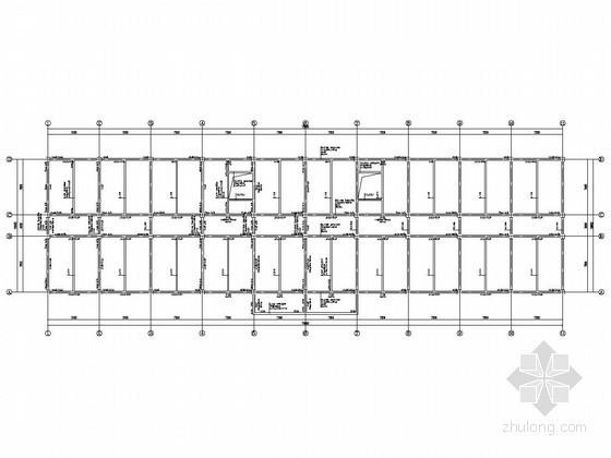 [学士]四层框架结构教学楼毕业设计(含结构设计、建筑设计、计算书)-标准层梁配筋图