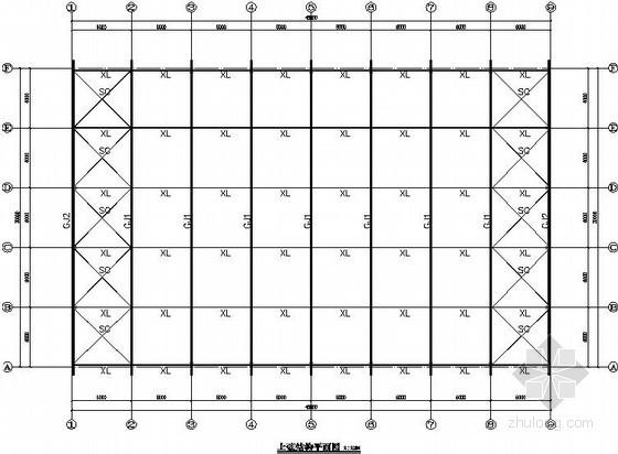 [广东]弧形门式刚架仓库结构施工图