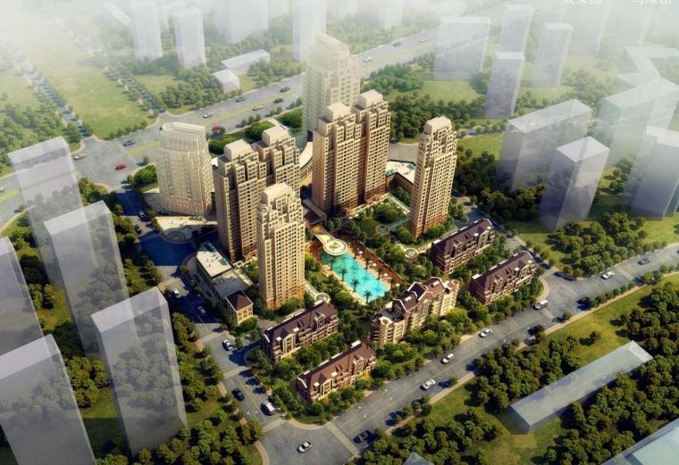 [浙江]高层学院典雅风幕墙立面住宅建筑设计方案文本