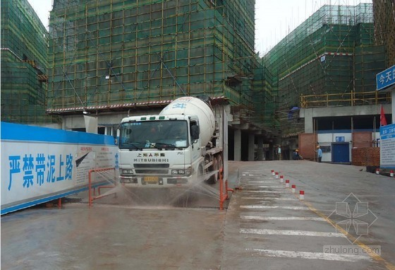 建筑工地车辆简易自动冲洗设施工作经验总结