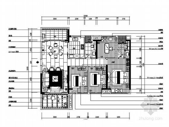[广东]120平某四室两厅现代中式风格样板房装修图(含实景和效果)