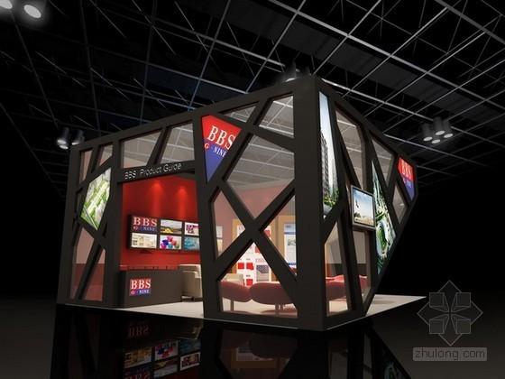 vr展厅3d模型资料下载-展会展厅3d模型下载