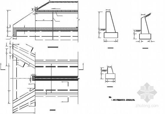 2-4m暗盖板涵八字墙洞口节点详图设计