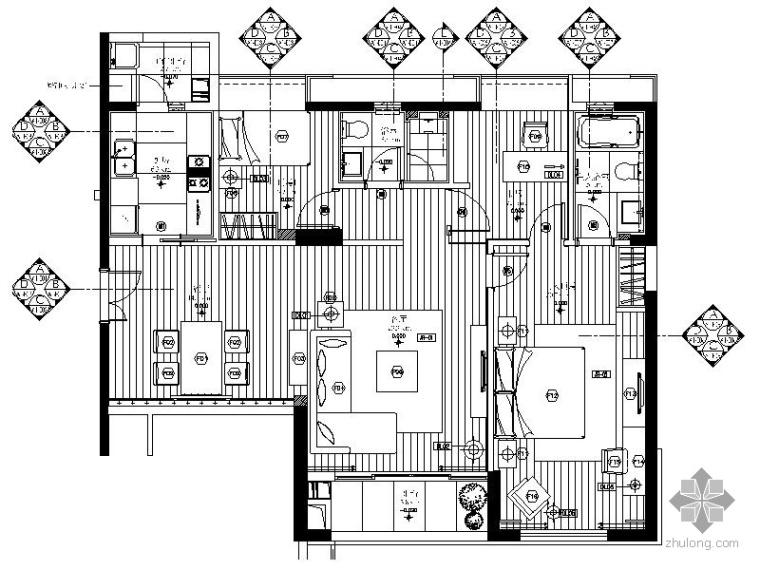 [珠海]现代精装样板房施工图(含实景)