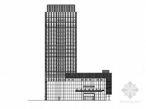 [重庆]现代风格高层玻璃幕墙知名酒店建筑施工图(含效果图)