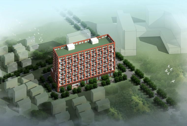 老年人公寓楼资料下载-[贵州]13层现代风格养老公寓建筑设计方案文本