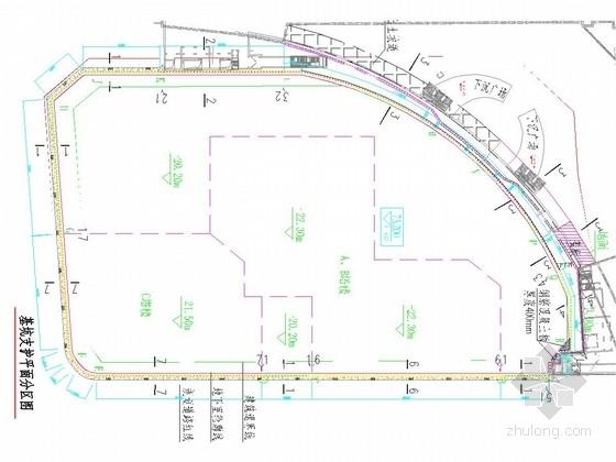[河北]紧邻地铁22米深基坑桩锚支护招标图