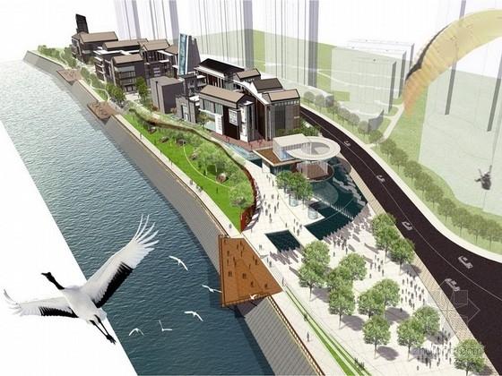 [甘肃]山水城市级商业小镇景观规划设计方案(著名景观设计公司)