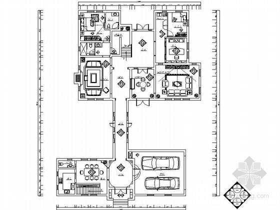 花园别墅区欧式风情两层别墅室内装修设计施工图