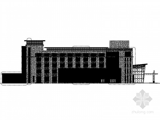 [江苏]明框玻璃幕墙框架式创意产业园建筑设计施工图