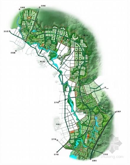 现代风格城市片区规划设计方案总平面图