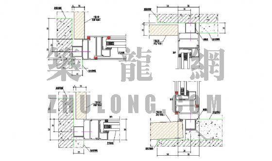 铝合金窗与建筑窗洞口安装节点