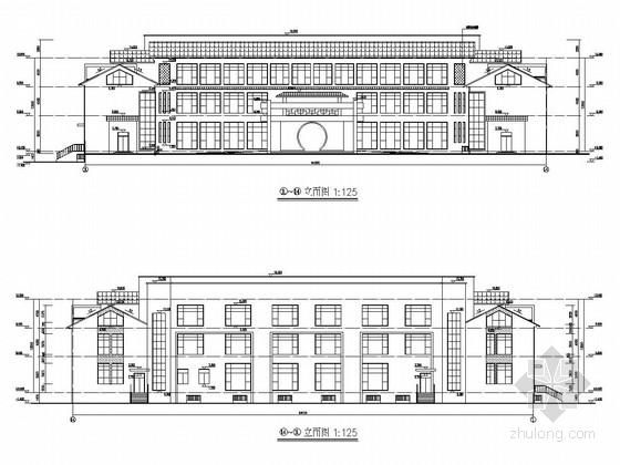 [张家港]三层框架结构体育公园用房结构施工图(含建筑图 带阁楼)