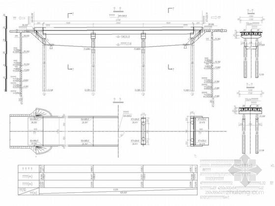 [安徽]3×20m后张预应力简支T梁桥施工图40张(桩基础)