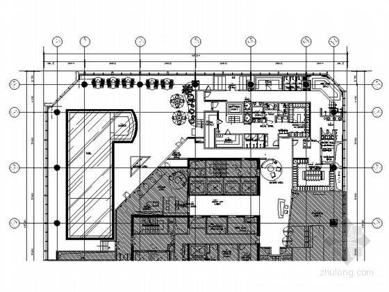 [惠州]市中心高档酒店游泳池区装修施工图(含效果)