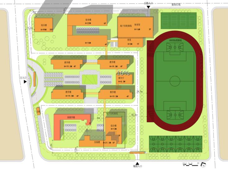 [四川]现代风格中学规划与建筑设计方案文本(含两套方案))_5