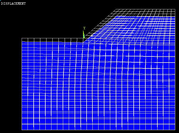 F=2.6时边坡变形图