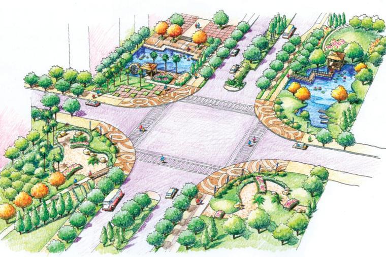 德国ESC设计公司景观设计优秀快题