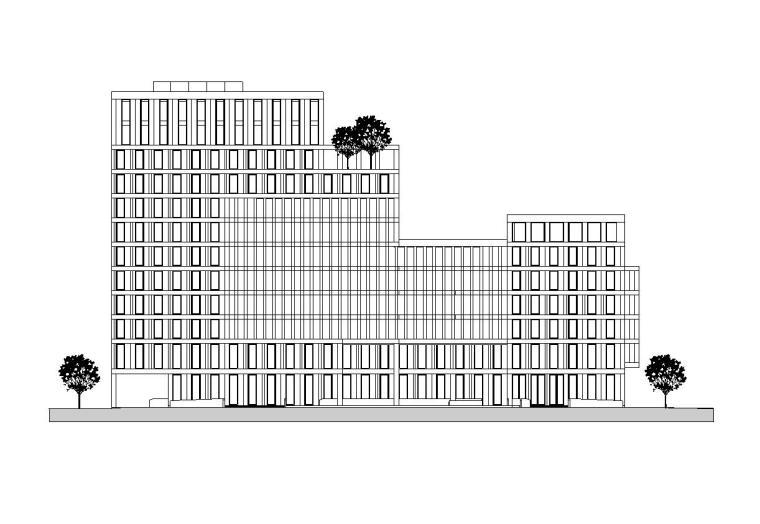 [上海]杨浦区创智天地精品酒店及公寓式建筑施工图设计