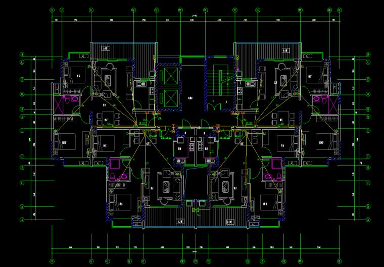 住宅楼弱电安装工程量清单计价实例---有图-一层弱电放大图